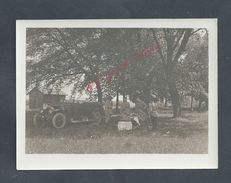 MILITARIA PHOTO ORIGINALE DE 12X9 SOLDATS OFFICIERS & ANCIENNE VOITURE DU 87e R.A.L FORT DU VILET À TOUL : - Guerre, Militaire