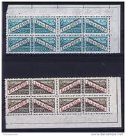 San Marino Michel 46 + 47 Pakketmarken , 1967-72 Cornermargins Of 8 Pieces, MNH/**, - Ongebruikt
