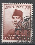 Indonesia 1953. Scott #391 (U) President Sukarno, Président - Indonésie