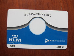KLM Facility Services Magnetic Card,Airlines Flight Overtime Card - Netherlands