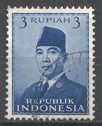 Indonesia 1951. Scott #392 (U) President Sukarno, Président - Indonesia