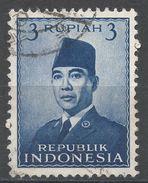Indonesia 1951. Scott #392 (U) President Sukarno, Président - Indonésie