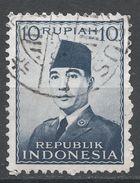 Indonesia 1951. Scott #395 (U) President Sukarno, Président - Indonésie