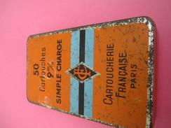 Boite Métallique Ancienne/Cartoucherie Française/CF/50 Cartouches / Simple Charge/9 Mm/Paris/Vers1950  BFPP126 - Boîtes