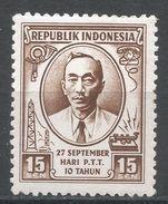 Indonesia 1955. Scott #414 (MNH) Mas Soeharto Postmaster General - Indonésie