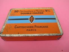 Boite Métallique Ancienne/Cartoucherie Française/CF/50 Cartouches / Double Charge/9 Mm/Paris/Vers1950  BFPP128 - Boîtes
