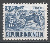Indonesia 1956. Scott #424 (MNG) Lesser Malay Chevrotain - Indonésie