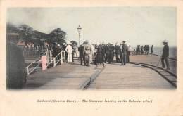 GAMBIE / Bathurst - The Governor Landing On The Colonial Wharf - Beau Cliché Animé Et Colorisé - Gambia