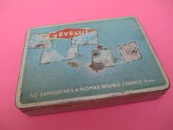 Boite Métallique Ancienne/Gevelot/ 50 Cartouches à Plombs / Double Charge/9 Mm/Vers1950  BFPP139 - Boîtes