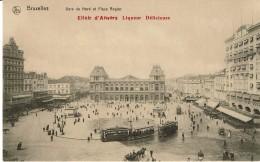Bruxelles  Gare Du Nord Et La Place Rogier   Tram - Non Classés