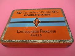 Boite Métallique Ancienne/Cartoucherie Française / Paris / 50 Cartouches à Plombs / Double Charge/9 Mm/Vers1950  BFPP140 - Boîtes