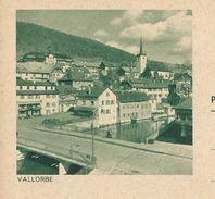 Carte Illustré Neuve N° 193 - 0113 (1)   VALLORBE  (Zumstein 2009) - Entiers Postaux