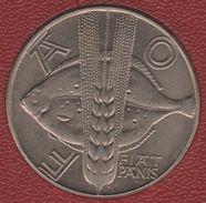 POLAND 10 ZLOTYCH  1971 FAO Y# 63 FISH Poisson Turbot - Poland
