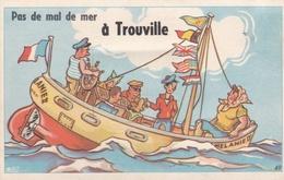 """¤¤  -  49   -   TROUVILLE  -  Carte à Système   -  Marin , Voilier , Bateau """" Mélanie II """"  -  ¤¤ - Trouville"""