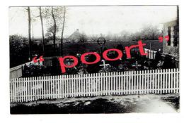 LEDEGEM - Duits Militair Kerkhof WO.1 - Originele Fotokaart Met O.a. Graf Fritz BELLIG (overgebracht MENEN Graf D.1047) - Ledegem