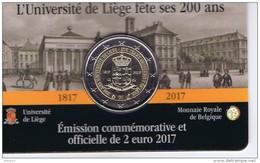 Belgio - 2 Euro Commemorativo Anno 2017 -  Università Di Liegi - Belgio