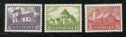 DENMARK Dänemark 1944 Michel 282 - 284 Dorfkirchen * - Kirchen U. Kathedralen