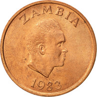 Zambie, Ngwee, 1983, British Royal Mint, TTB+, Copper Clad Steel, KM:9a - Zambie