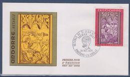 = Principauté D'Andorre Rétable De Saint Jean De Caselles Enveloppe 1er Jour Andorre La Vieille 24.10.70 N°206 - FDC