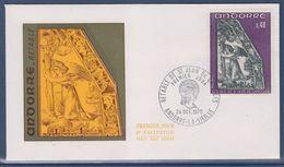 = Principauté D'Andorre Rètable De Saint Jean De Caselles Enveloppe 1er Jour Andorre La Vieille 24.10.70 N°207 - FDC
