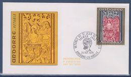 = Principauté D'Andorre Rètable De Saint Jean De Caselles Enveloppe 1er Jour Andorre La Vieille 24.10.70 N°208 - FDC