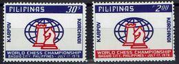 Schach Chess Ajedrez échecs - Philippinen Philippines Pilipinas 1978 - Schachweltmeisterschaft - MiNr 1230-1231 - Schaken