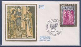 = Principauté D'Andorre Rétable De Saint Jean De Caselles Enveloppe 1er Jour Andorre La Vieille 16.9.72 N°221 - FDC