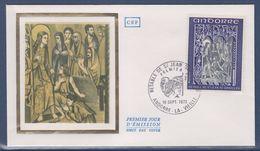 = Principauté D'Andorre Rètable De Saint Jean De Caselles Enveloppe 1er Jour Andorre La Vieille 16.9.72 N°222 - FDC