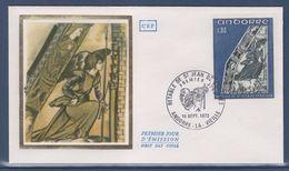 = Principauté D'Andorre Rètable De Saint Jean De Caselles Enveloppe 1er Jour Andorre La Vieille 16.9.72 N°223 - FDC