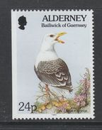 TIMBRE NEUF D´AURIGNY - GOELAND MARIN (LARUS MARINUS) N° Y&T 77a (NDG) - Mouettes
