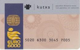 TARJETA DE BANCO DE LA KUTXA EURO 6000  (CREDITCARD-BANK-VISA) CHIP-PUCE - Télécartes