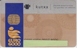 TARJETA DE BANCO DE LA KUTXA EURO 6000  (CREDITCARD-BANK-VISA) CHIP-PUCE  (rozada) - Télécartes