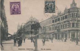AK Rio De Janeiro Avenida Central Hotel Cafe ? Brasil Brasilien Brazil Brésil Briefmarke Stamp Timbre Selo Sello Postal - Rio De Janeiro