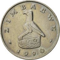 Zimbabwe, 50 Cents, 1990, TTB, Copper-nickel, KM:5 - Zimbabwe