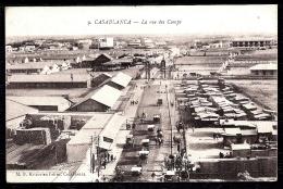 CPA ANCIENNE MAROC- CASABLANCA- MILITARIA- VUE DES CAMPS EN TRES GROS PLAN AVEC BELLE ANIMATION- ATTELAGES - Casablanca