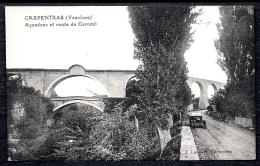 CPA ANCIENNE FRANCE- CARPENTRAS (84)- AQUEDUC ET ROUTE DE CAROMB EN ÉTÉ- TRES GROS PLAN- AUTO ANCIENNE- - Carpentras