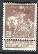 Belgien Mi 82 Falz K2-321 - 1910-1911 Caritas