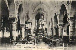 CPA - PONT-LEVOY (41) - Aspect De L'intérieur De L'Eglise En 1934 - France