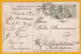 1910 - CP De Sao Vicente, Cabo Verde, Portugal Vers Anvers, Belgique - Cad Arrivée - Contrôle Postal - Cap Vert