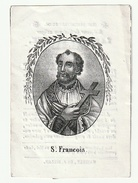 Doodsprentje Lambert JACQUE Echtg. Maria Cornelia Thys Hasselt 1845 (voorkant S. François) - Heilige Franciscus - Andachtsbilder
