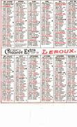 Petit Calendrier De 1983  - Pub Chicorée Extra LEROUX - Calendars