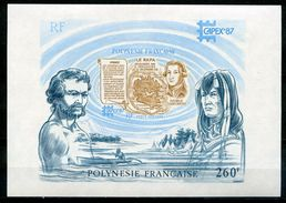 POLYNESIE   POLYNESIA   1987   CAPEX 87   Yvert BF13  . Exposition Philatélique Internationale à Toronto - Blocchi & Foglietti