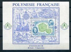 POLYNESIE   POLYNESIA   1986   STOCKHOLMIA 86   Yvert BF 12 .  Exposition Philatélique Internationale à Stockholm - Blocchi & Foglietti