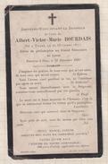 7AJ254  IMAGE PIEUSE RELIGIEUSE Mortuaire  ALBERT BOURDAIS TRANS ELEVE PHILOSOPHIE GRAND SEMINAIRE LAVAL  1892 2 SCANS - Images Religieuses