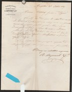 Herault - Montpellier - A.Dupernet Et Cie - Vermicellerie Génoise  De Sirombre-Angély - 1869 - France