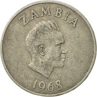 Zambie, 20 Ngwee, 1968, British Royal Mint, TTB, Copper-nickel, KM:13 - Zambia