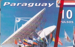 TARJETA DE PARAGUAY DE UNA ANTENA PARABOLICA PARA SATELITES  (SATELLITE) NUEVA-MINT - Paraguay