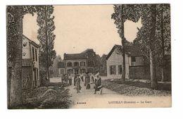 80 Loeuilly La Gare Cpa Carte Animée Correspondance 1917 - France