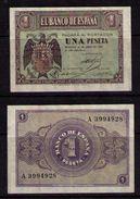 BILLETE DE 1 PESETA DE 30 DE ABRIL DE 1938 BURGOS - EXCELENTE + - [ 3] 1936-1975 : Régence De Franco