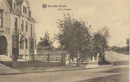 KNOKKE - KNOCKE-ZOUTE : Une Avenue - CPA PEU COURANTE - Knokke
